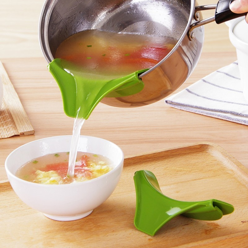 1pc New Coming Creative Kitchen Gadgets Pour Soup Anti-spill and Leak Soup Deflector Useful Home Kitchen Specialty Tools