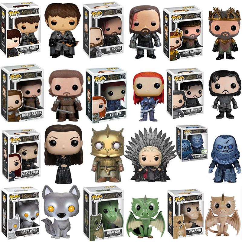 FUNKO POP New Arrival Game Of Thrones SANSA ROBB HOUND RENLY GIANT WIGHT YGRITTE Action Figure Collectible toys for Children FUNKO POP New Arrival Game Of Thrones SANSA ROBB HOUND RENLY GIANT WIGHT YGRITTE Action Figure Collectible toys for Children