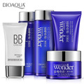 BIOAQUA Blueberry Face Care Set Skin Day Cream Cleaner Whitening Moisturizing Deep Clean Pores Smooth Dull Skin facial set