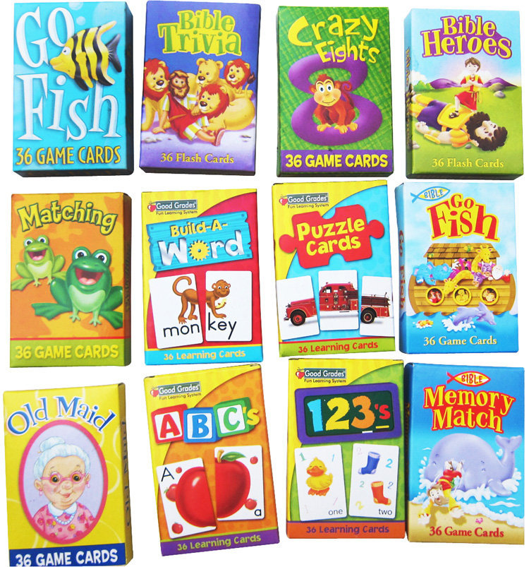 3-Pack Kids Card Games Crazy Eights Go Fish Old Maid