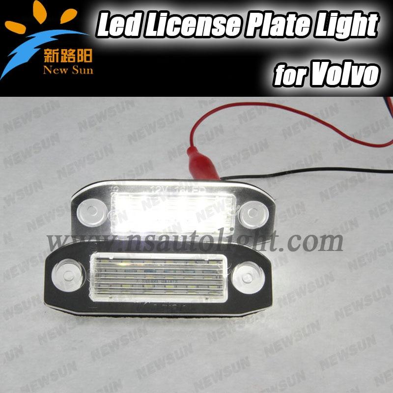 18SMD LED license plate light tail light For Volvo S80 Xc90 S40 v60 S60 V70 7000K White LED ...