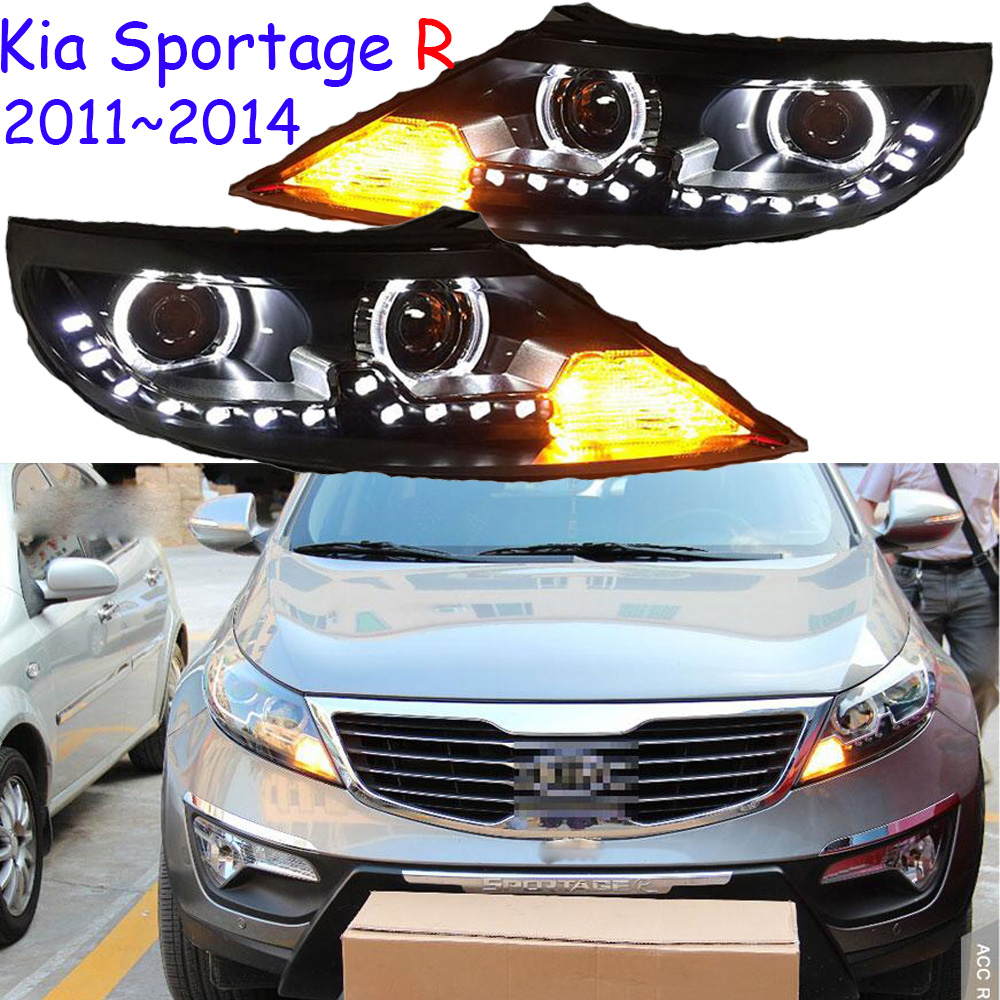 Car Styling for Sportage R 2011 2014 for SportageR head lamp LED DRL Lens Double Beam H7 HID Xenon bi xenon lens,sorento k5 k2