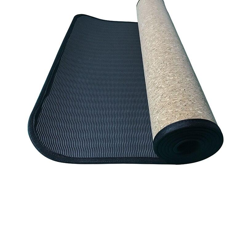 Gym Mats Cork: Edge Covered Natural Cork Yoga Mat Eco Friendly Tasteless