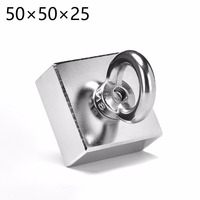 1pcs Ture Block 50 X 50 X 25 Mm Salvage Magnetic Super Strong MAGNET Rare Earth