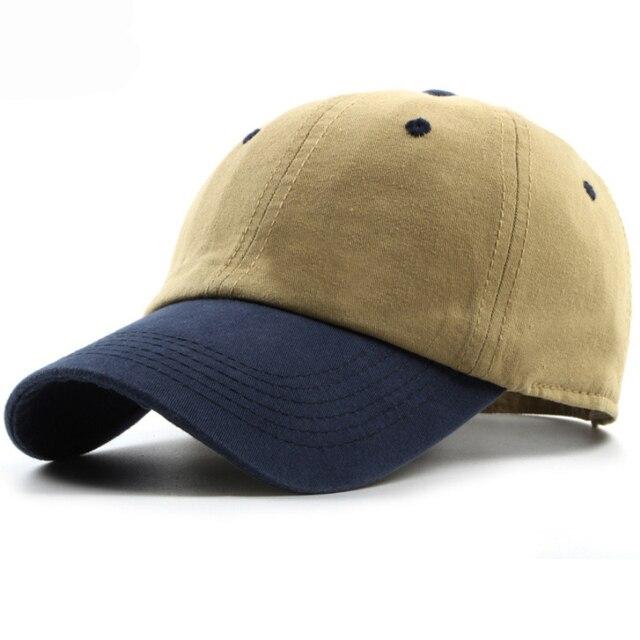 HT1186 Kualitas Tinggi Katun Kanvas Topi Baseball Polos Pria Wanita dua  Nada Snapback Topi Tulang Mepet 02216ac884