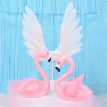 Angel Wings Cake Topper Cake Decoration Angel Happy Birthday Party Supplies Kids Wedding Cake Toppers Decorating Baby Shower цена 2017