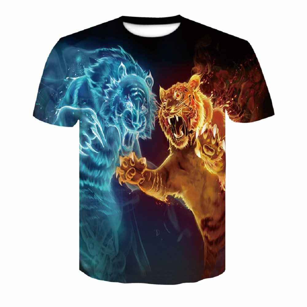 384d9f8e4c4 Hot Brand 3d T-shirt Animal Lion Shirt Camiseta 3d T Shirt Men Funny T