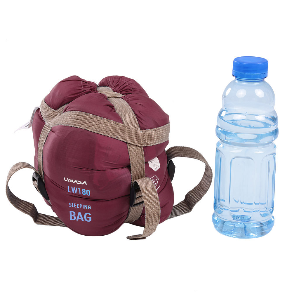 3416ff42a888 Lixada 190   75cm Outdoor Envelope Square Sleeping Bag Camping Travel  Hiking Multifunction Ultra-light 680g ...