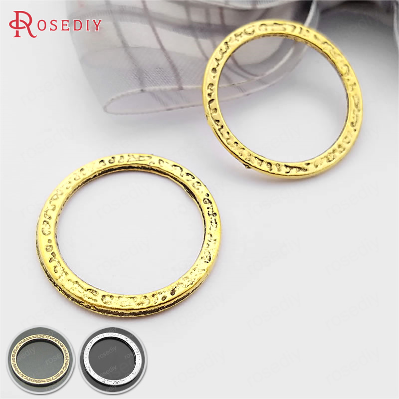 (21871-G)10PCS 24.5MM Zinc Alloy Antique Bronze Circle & Closed Jump Rings Charms Pendants Jewelry Findings Accessories