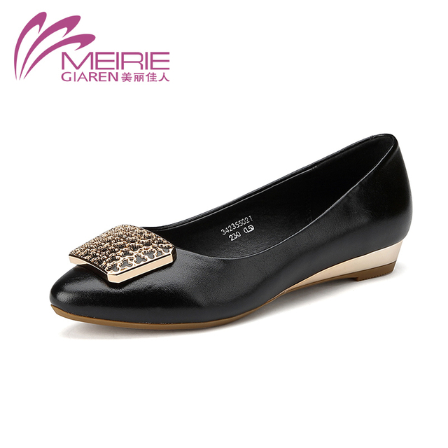 MeiRie'S Women Flats Shoes Sweet Women Shoes NEW Fashion Flats Shoes Women Ballet Princess Shoes For Casual Crystal Boat