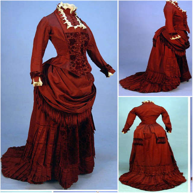 7cb84f991d8 Online Shop History!Red Vintage Costumes Victorian Dresses 1860s Scarlett  Civil War Southern Belle Dress Halloween Dresses US4-36 C-882