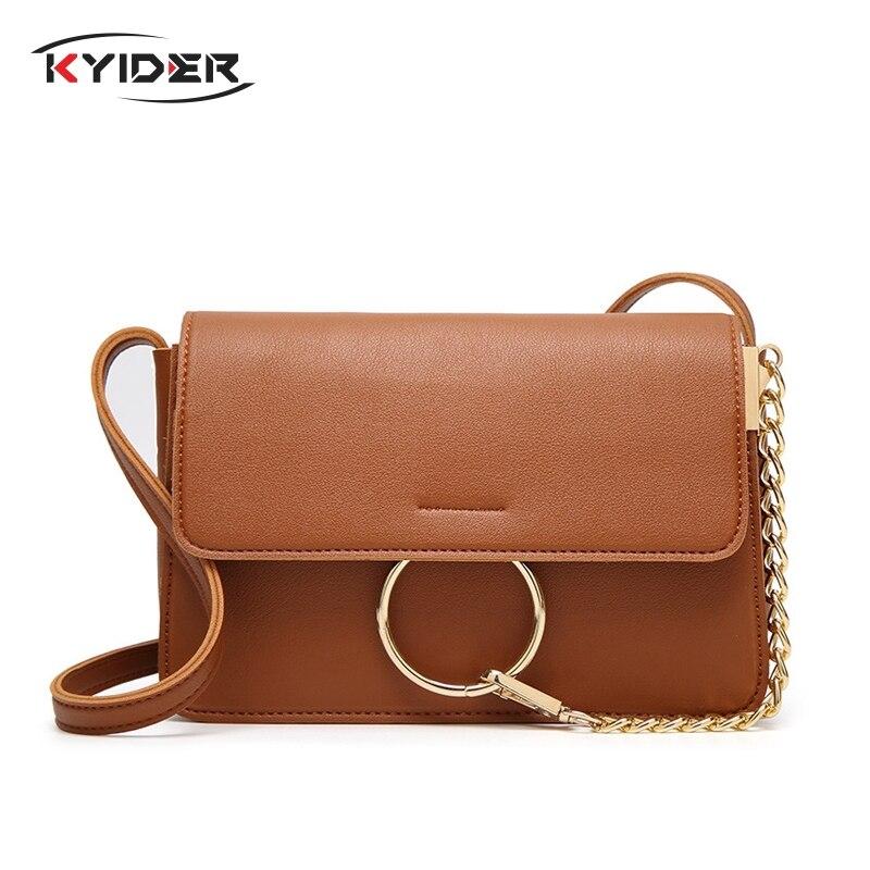 KYIDER Women Shoulder bags luxury handbags women designer pu Leather Messenger crossbody Bag for 2019 bolsa feminina