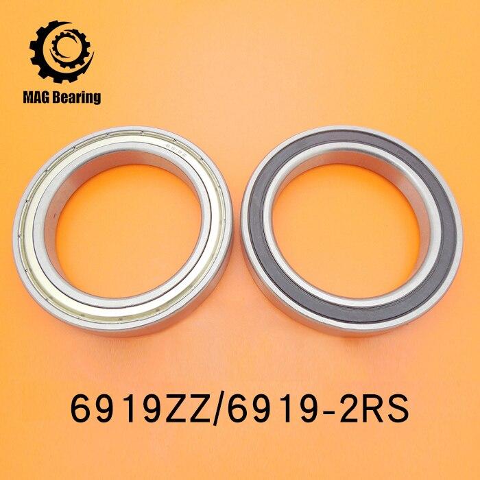 High Quality Think Section Deep Groove Ball Bearing 6919ZZ Metal Shielded Ball Bearing 61919 95X130X18MM 5pcs lot f6002zz f6002 zz 15x32x9mm metal shielded flange deep groove ball bearing