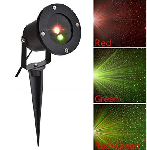 laser lawn lights holiday lights 12 buttons dynamic red green star