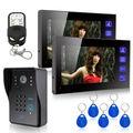"""7"""" LCD Video Doorbell Intercom RFID Keyfobs IR Camera &Code Keypad &Remote 1V2"""