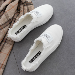 Image 3 - Femmes vulcaniser chaussures été nouvelle mode femmes pantoufles toile chaussures chaussures plates décontractées couleur unie décontracté décontracté mode baskets