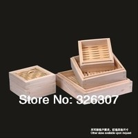 10cm 15cm 20cm 25cm Chinese special square cedar wooden steamer creative package bamboo steamer dumplings cage buns 10 25cm