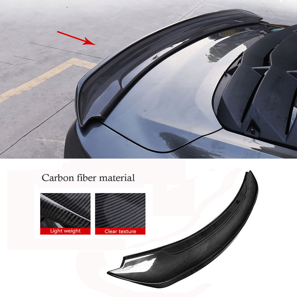 Carbon Fiber Rear Lip Spoiler Wings for Ford Mustang GT V8 V6 GT350R Coupe 2015 2016 2017 FRP unpainted