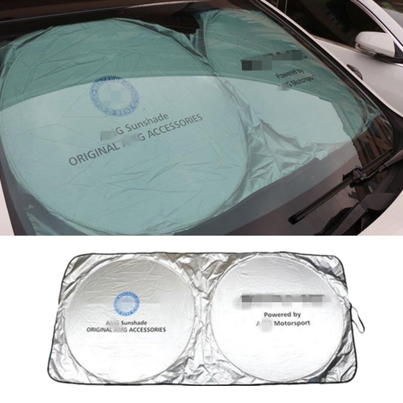150*70mm Car Accessories Front Sunshades For Mercedes Benz AMG W201 GLA W176 W209 W202 W220 W204 W203 W210 W124 W211 W222 X204150*70mm Car Accessories Front Sunshades For Mercedes Benz AMG W201 GLA W176 W209 W202 W220 W204 W203 W210 W124 W211 W222 X204