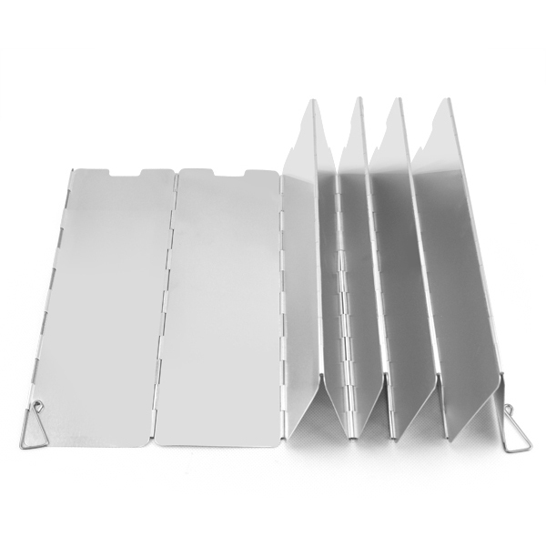 Camping 10 plates Fold Camping Cooker Gas Stove Wind Shield Screen Foldable Outdoor titanium picnic Travel Tools camp