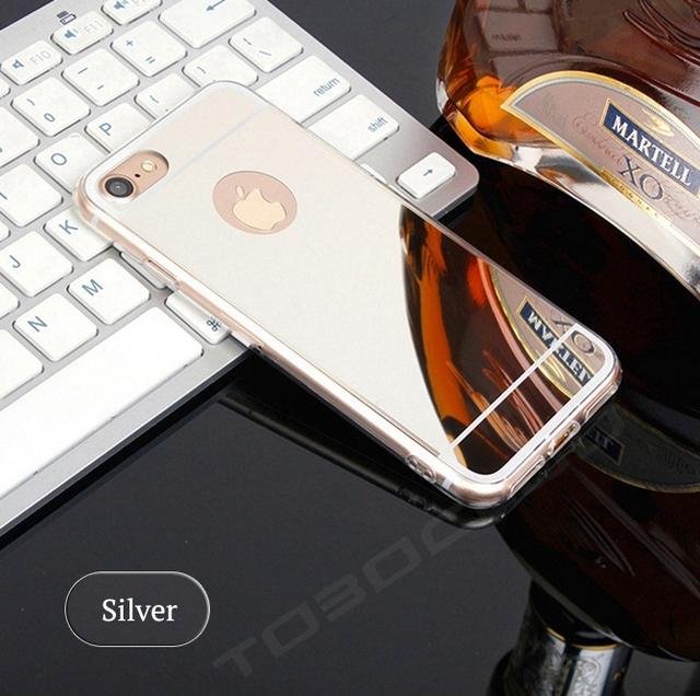 Mirror Metallic Silicone Phone Case for iPhone