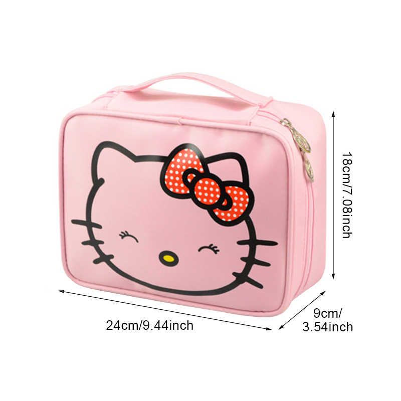 21f25c956c37 ... Mihawk Girl s Hello Kitty Cosmetic Bag Cute Travel Makeup Organizer Case  Beautician Beauty Suitcase Accessories Supplies ...