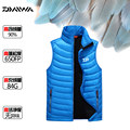 2016 Daiwa Dawa Men Winter Down Vest Anti-static Ultra-light Fashion Slim Outwear Man Down Vest Black Red Blue Size L-3XL