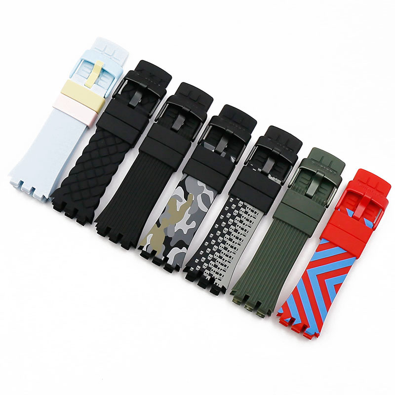 Silicone Strap Men's Watch Accessories For Swatch Touch SURW100SURB100SURB105SURR103SURB101 Waterproof Strap Women Watch Band
