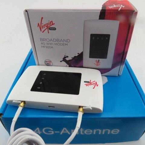 ZTE MF920 WLAN Мобильной Точки Доступа 150 Мбит LTE 4 Г 3 Г Модем-Маршрутизатор WiFi + 4 Г 35dbi TS9 антенна