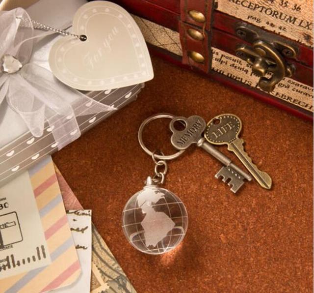 10pcs Crystal Globe Keychain Travel Themed Destination Wedding ...