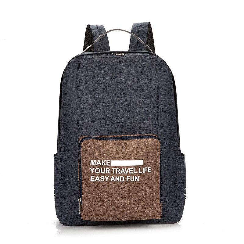 Мужские дорожные сумки, водонепроницаемая нейлоновая складная сумка для ноутбука, вместительная сумка для багажа, дорожные сумки, портативные женские сумки - Цвет: black  3