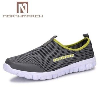 NORTHMARCH גברים נעלי קיץ אופנה לנשימה רשת גברים נעליים יומיומיות להחליק על נעליים שטוחות באיכות גבוהה עבור גברים Zapatillas Hombre