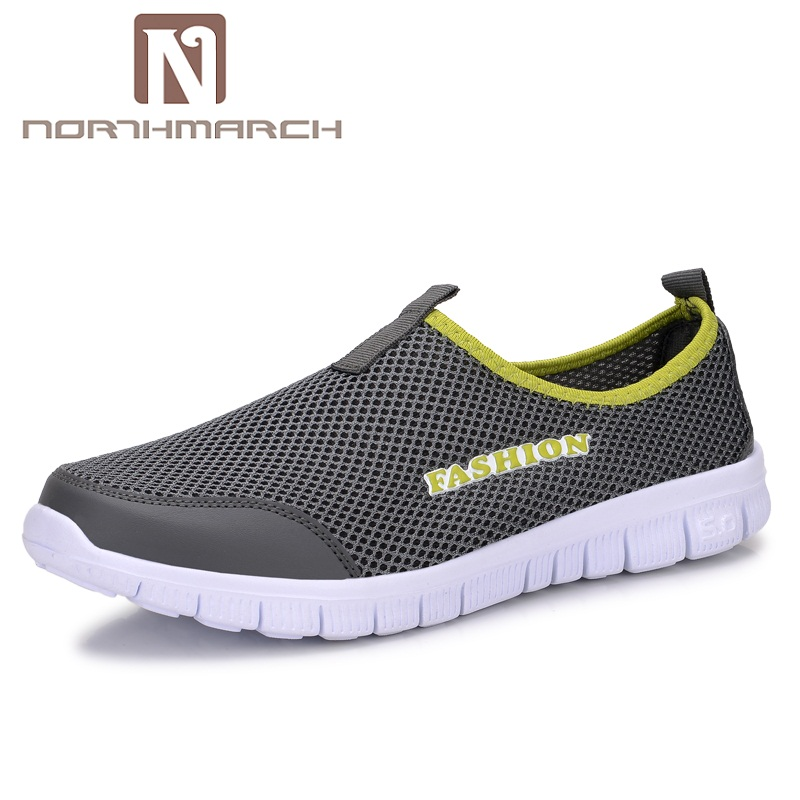 NORTHMARCH Men Shoes Summer Fashion Breathable Mesh Men Casual Shoes Slip-On High Quality Flat Shoes For Men Zapatillas Hombre coolfar 2016 new summer print sandals wedges polka dot slippers girls thick soles casual solid med cork flip flops