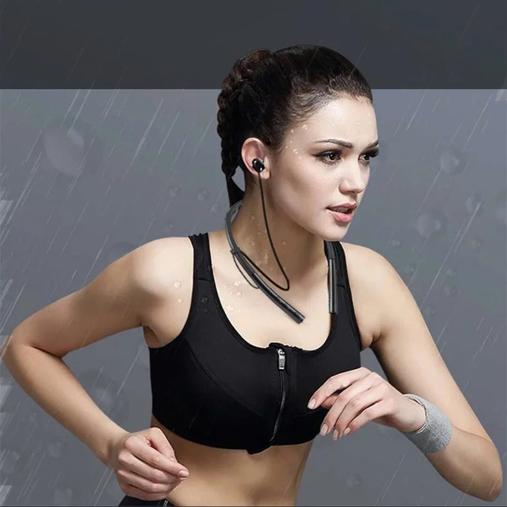 HBUDS V4.2 Bluetooth Headphones Neckband Magnetic Design Sport Earphones,Wireless Headset Stereo Noise Cancelling Earbuds w/ Mic