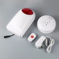 4pcs Set Outdoor Waterproof Wireless Smoke Detector Strobe Siren With Backup Battery For Home Alarm Systems