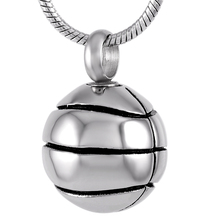 IJD8113 Basketball design ashes holder cremation pendant 316L stainless steel memorial urn necklace funeral urn keepsake