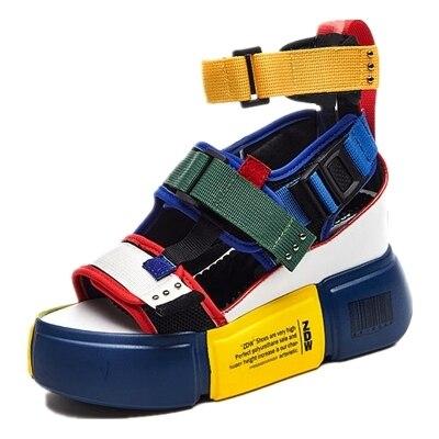 f61de3614a43d2 EXCARGO Wedge Sandals Women Shoes2019 New Summer Casual Shoes Platform  Sandals Ankle Belt Hip Hop Female