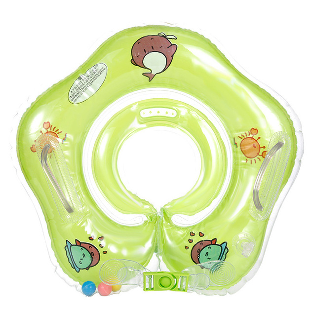 0-3 Years Baby Swimming Ring Neck Tube Ring Safety Infant Neck Float Circle For Baby Swimming Pool Bathing Inflatable 1