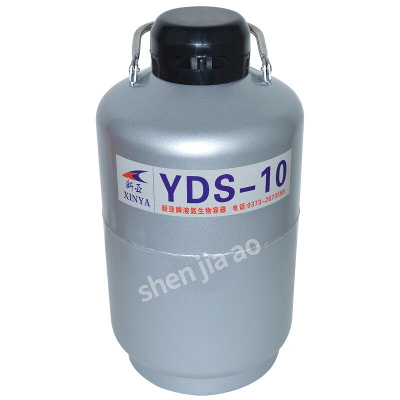 1PC YDS-10 Liquid Nitrogen Container Cryogenic Tank Dewar With Straps