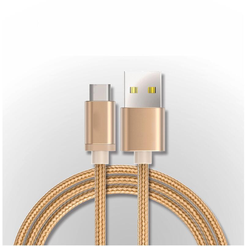 Applicable to Android mobile phone data cable Aluminum alloy braided nylon charging cable Android phone fast charging line in Mobile Phone Cables from Cellphones Telecommunications