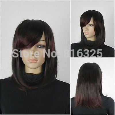 D&M32321>>New - fashion woman shall brown crimson mixed wig Discount 35% <font><b>30</b></font>%