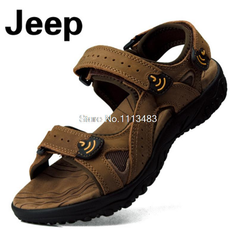 SUMMER MENS GENUINE LEATHER SANDALS SHOES FLIP FLOPS OUTDOOR BEACH SPORT CAMPING TRAVEL SEA HIKING H090 In Womens Sandals From Shoes