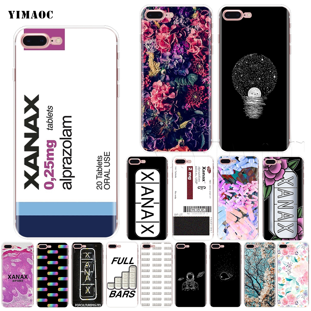 ᗛYIMAOC XANAX Soft Silicone Case for iPhone XS Max XR X 8 7 6 6S ...