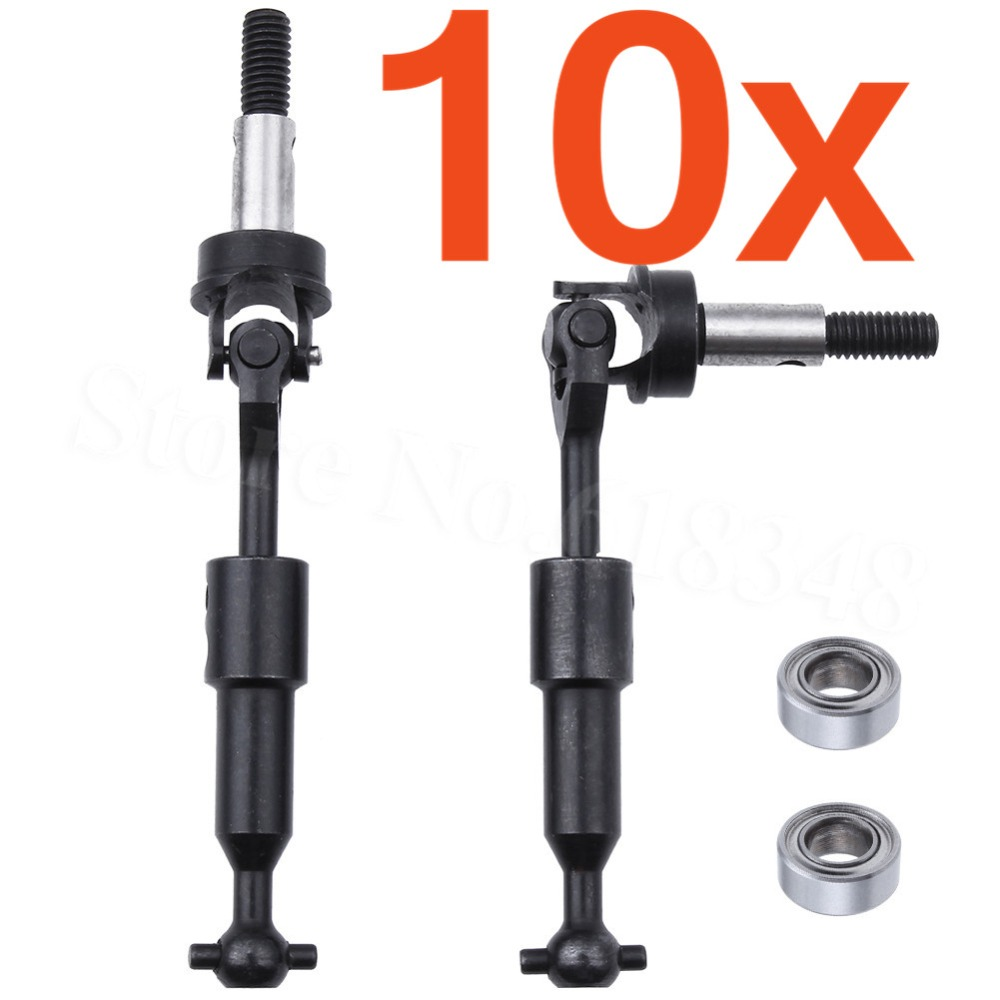 10 Pairs Universal Steel Drive Shaft Wide Angle 80 Degree 43-53mm For 3Racing Sakura CS XIS RC 1/10 Drifting Tamiya 416 418 1 set d3 cs sport aluminum steering system for 3racing sakura d3 1 10 rc car top quality