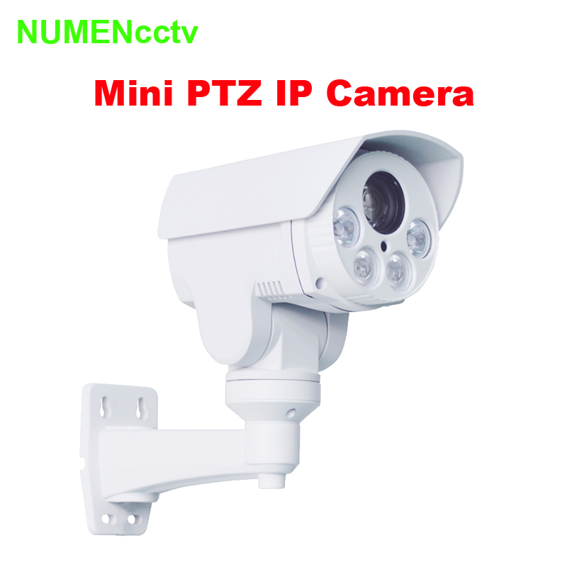 2.0 MEGAPIXEL 10X OPTICAL ZOOM IR MINI Bullet PTZ camera waterproof CCTV Security IP Camera 1080P HD IR 80m Night Vision image