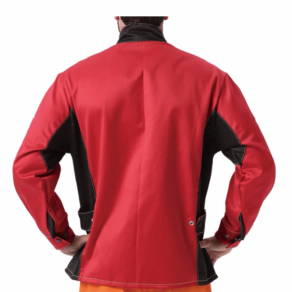 Tools : Welding Jacket Flame Heat Abrasion Resistant Working Cloths Flame Retardant Cotton Worker Jacket for Working Protect