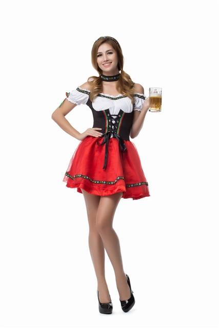 K4 Oktoberfest Costume Fancy Dress Up German Heidi Dirdnl Leiderhosen Beer Maid