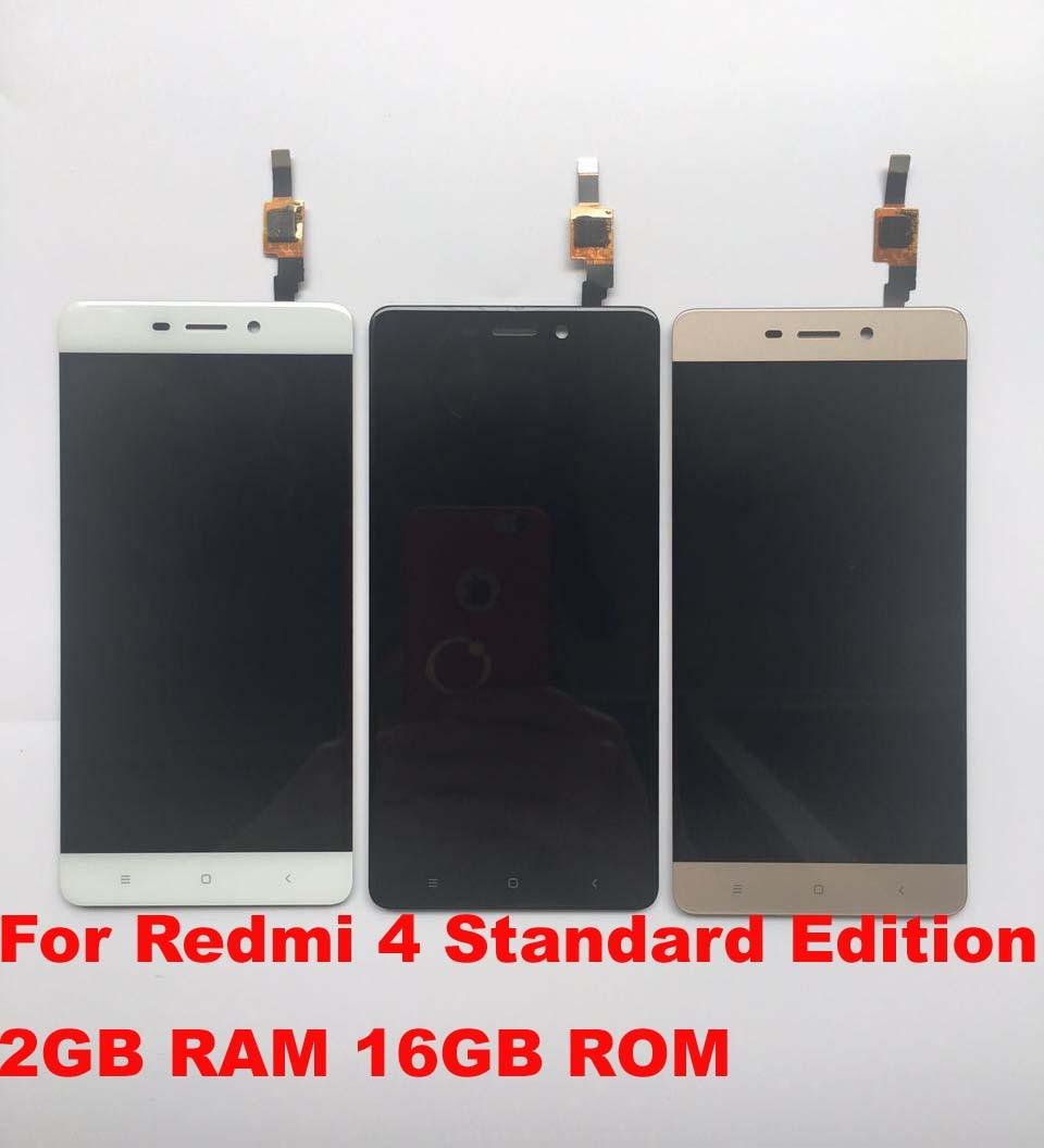 imágenes para Cristal de la Pantalla táctil Y la PANTALLA LCD de Pantalla Digitalizador Asamblea Para Redmi 4 Edición Estándar 2 GB RAM 16 GB ROM SmartPhone Versión Normal!