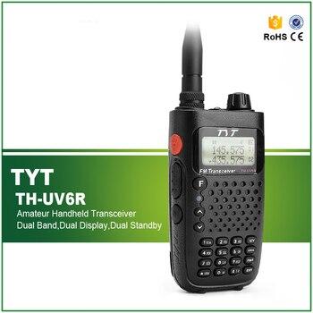 New Walkie Talkie TYT TH-UV6R 5W 256CH VHF+UHF 8 Group Scrambler Dual Band VOX Flashlight Dual Band Two Way Radio TH UV6R