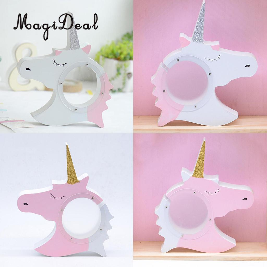 Blue SAYTAY Kids Piggy Bank for Children Gift Or As Home Decoration Cute Unicorn Coin Money Bank